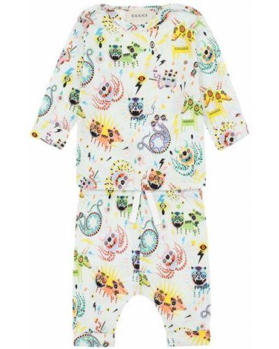 Голубая хлопковая пижама Gucci