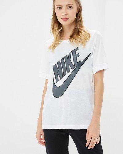 Белое поло Nike