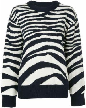 Темно-синий свитер в рубчик Sykes