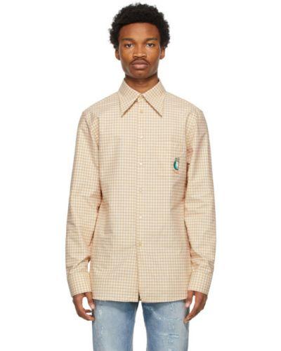 Koszula oxford bawełniana z haftem z długimi rękawami Gucci