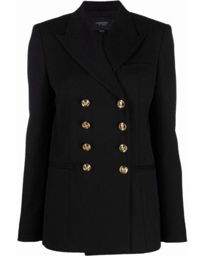 Черный пиджак из полиэстера Giambattista Valli