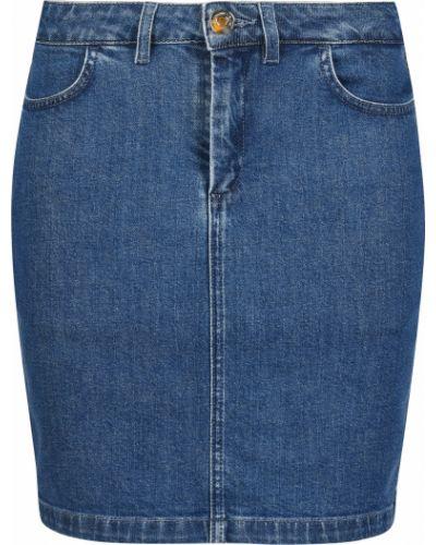 Хлопковая юбка - синяя Trussardi Jeans
