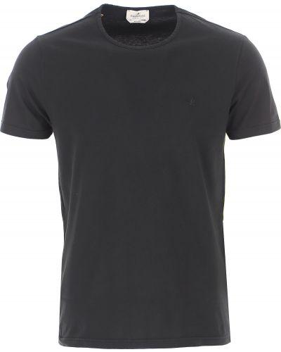 Czarny t-shirt bawełniany krótki rękaw Brooksfield