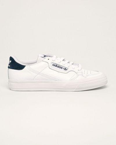 Białe sneakersy skorzane sznurowane Adidas Originals