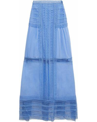 Кружевная юбка миди - синяя Charo Ruiz Ibiza