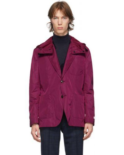 Малиновый удлиненный пиджак с накладными карманами с воротником Tiger Of Sweden