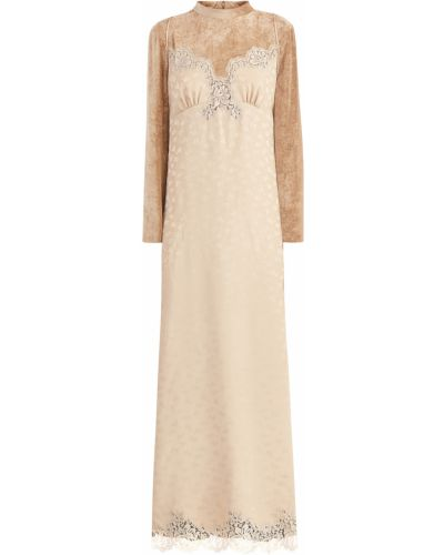 Вечернее платье с цветочным принтом футляр Stella Mccartney