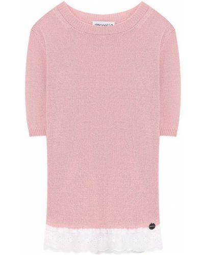 Розовый свитер с вышивкой Simonetta
