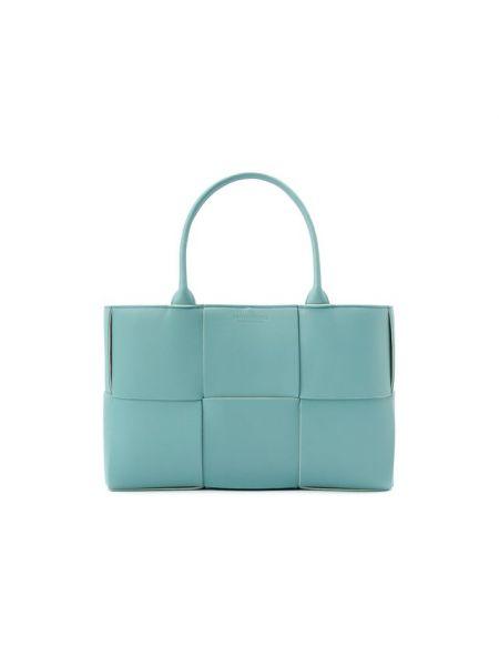Кожаная синяя сумка-тоут Bottega Veneta
