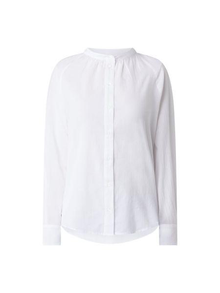 Biała bluzka bawełniana z raglanowymi rękawami Marc O'polo