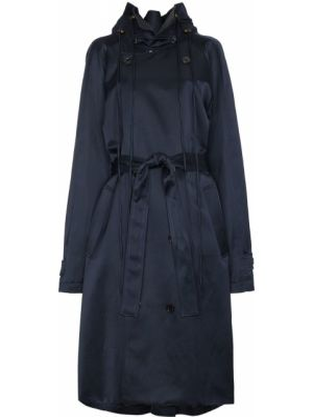 Хлопковый длинное пальто с поясом двубортный Y/project