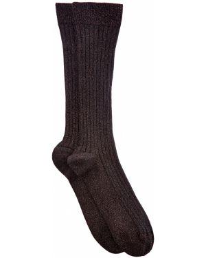 Носки высокие с люрексом в рубчик Brunello Cucinelli