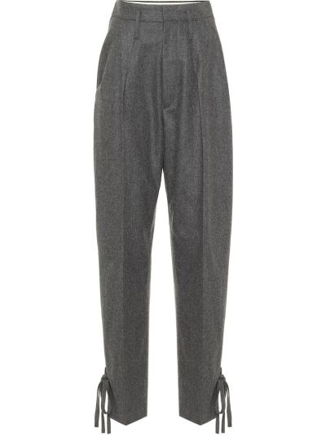 Шерстяные брюки с манжетами Isabel Marant