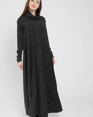 Повседневное платье осеннее черное мадам т