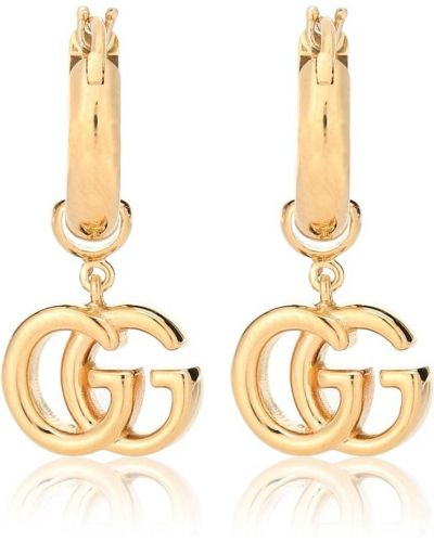 Желтые серьги-гвоздики Gucci