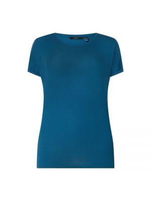 Niebieski t-shirt Vero Moda Curve