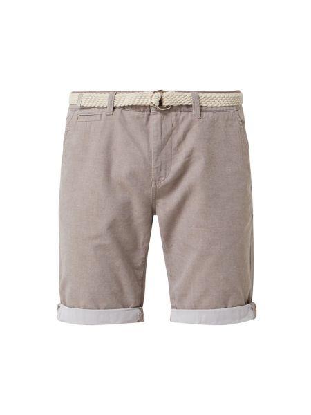Bawełna niebieski dżinsowe szorty z kieszeniami z aplikacjami Tom Tailor Denim