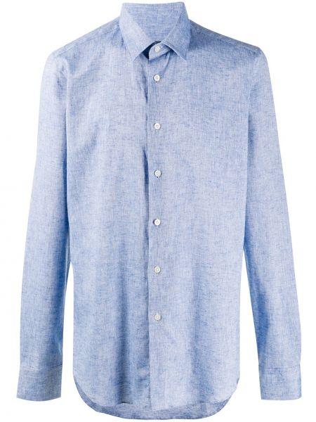 Koszula z długim rękawem klasyczna zapinane na guziki Dell'oglio