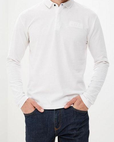 Белое поло с длинным рукавом Mezaguz