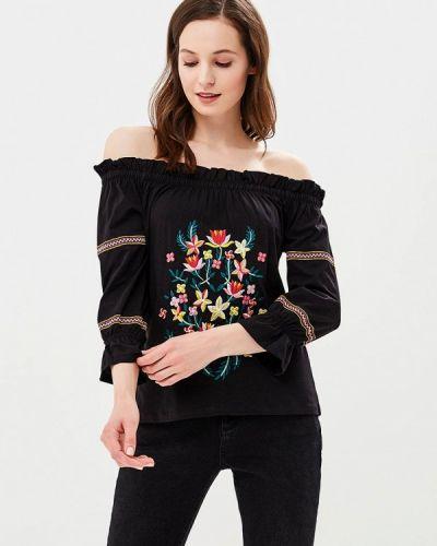 Блузка с открытыми плечами турецкий черная Dorothy Perkins