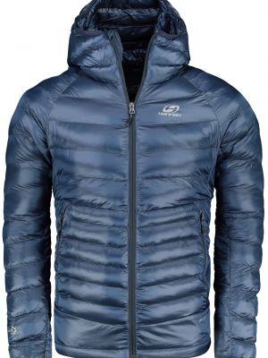 Niebieska kurtka sportowa z kapturem materiałowa Hannah