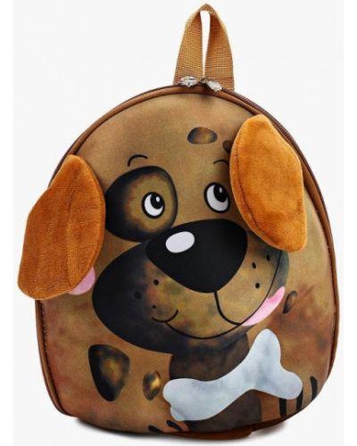 Коричневый текстильный рюкзак Kenkä