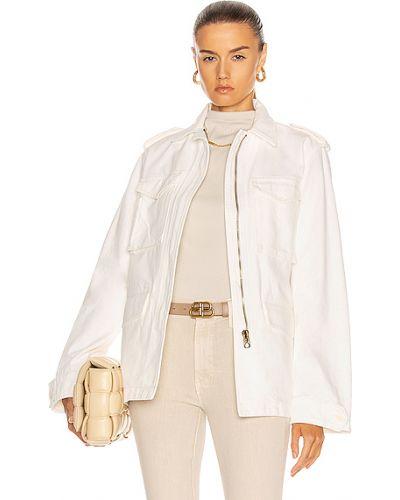 Ватная белая джинсовая куртка милитари Nili Lotan