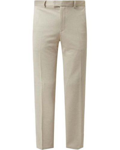Spodnie z wiskozy - beżowe Christian Berg Men