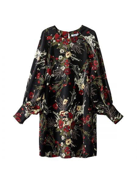 Платье мини с цветочным принтом с длинными рукавами La Redoute Collections