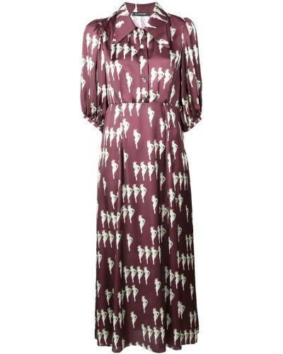 Приталенное платье миди с манжетами на пуговицах Jill Stuart