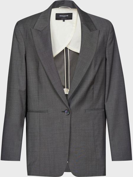 Шерстяной серый пиджак Rochas