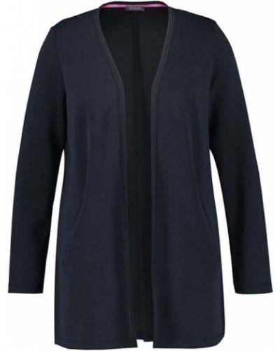 Niebieski sweter bez zapięcia Samoon