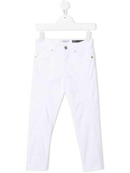 Облегающие белые джинсы-скинни на молнии Dondup Kids