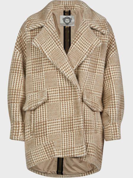 Пальто на кнопках - бежевое Diego M
