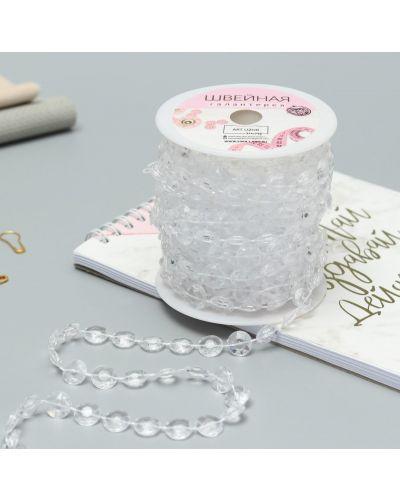 Ожерелье с жемчугом прозрачное арт узор