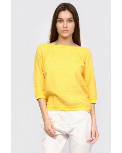 Желтая блузка с оборками Inna Lee