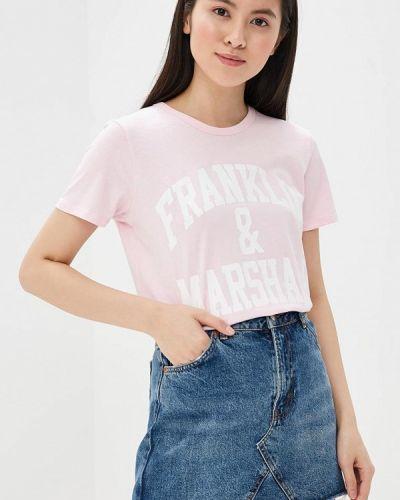 Розовая футболка Franklin & Marshall