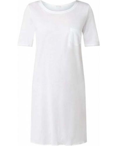 Biała koszula nocna bawełniana rozkloszowana Hanro