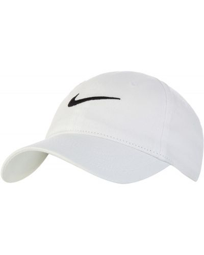 Хлопковая белая бейсболка Nike