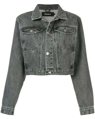 Черная джинсовая куртка на пуговицах Misbhv