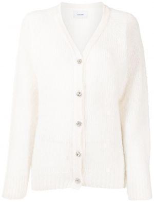 Biały sweter z dekoltem w serek Erdem