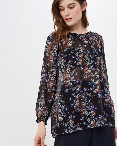 Блузка с длинным рукавом синяя Iwie