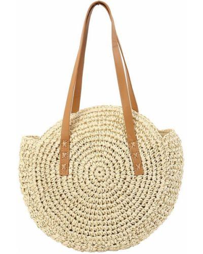 Соломенная сумка шоппер Jingpin