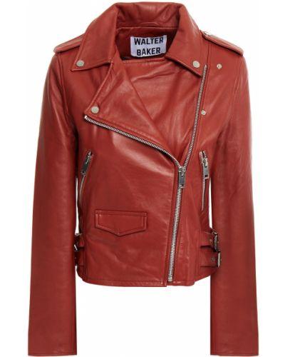 Оранжевая кожаная куртка с подкладкой Walter Baker