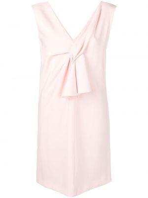 Платье мини короткое - розовое Lanvin