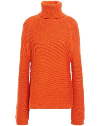 Pomarańczowy sweter wełniany Joseph