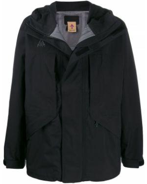 Куртка с капюшоном черная длинная Nike