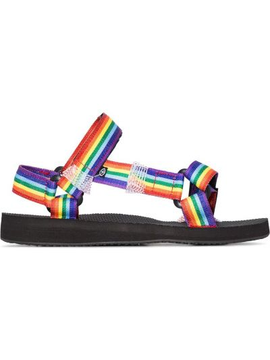 Czarne sandały na rzepy peep toe Arizona Love