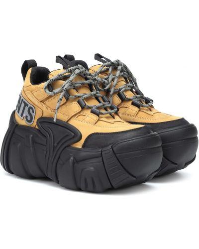 Кроссовки на платформе кожаные оверсайз Vetements