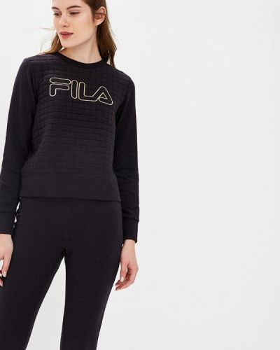 Черный свитшот Fila